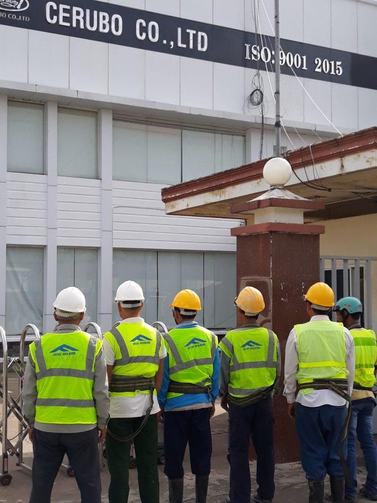 Dịch vụ thay tôn nhà xưởng tại Antaco
